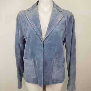 Liz Claiborne Blue Suede Woman's Jacket